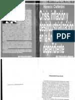 Ciafardini, Horacio - Crisis, inflación y desindustrialización en la Argentina dependiente
