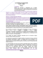 LEY GENERAL DE EDUCACIÓN Y LA INNOVACION
