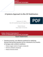 A Systems Approach to Bio-Oil Stabilization FINAL
