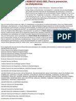 NOM-037-SSA2-2002 Tratamiento y Control de Las Dislipidemias
