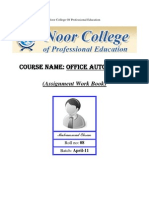 Office Automation (Noor College Of Professional Education)