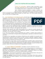 DATOS ACERCA DE NUTRICIÓN SALUDABLE