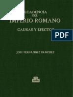Fernandez Sanchez - cia Del Imperio Romano