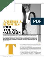 America Knocks for Young Qataris