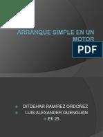 Arranque Simple en Un Motor