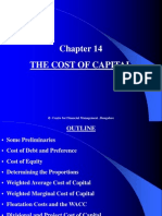 Chapter 14 the Cost of Capital