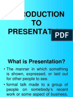 Introduction to Presentation Skills - Prelims