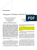 Propogation of Unbalance in Electrical Power Systems