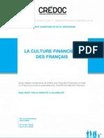 CRÉDOC - La culture financière des Français - octobre 2011