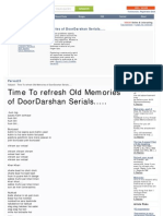 Http Www.citehr.com 82655 Time Refresh Old Memories Doordarshan Serials