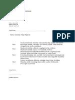 Format Contoh Surat Memohon Kerja