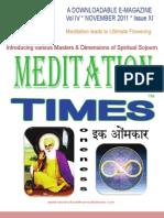 Meditation Times Nov 2011