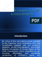 Rule on Examination of a Child Witness Ppt