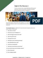 ESL Worksheet Lesson Plan -  Night at the Museum 2 (Basic English)