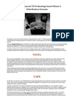 The Development of Technology-Based Music 6 - Distribution Formats