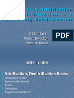 Simultaneous Nitrification Denitrification