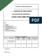 01 ICSA-F109-OBR-P03 Rev.00 Colocación de Hormigón