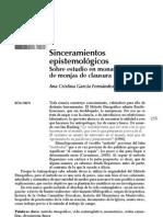 Sinceramientos Epistemológicos - Ana Cristina García Fernandez