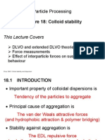 CHEE2940 Lecture 18 - Colloid Stability
