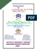 Training Report on Alcoholic beverage