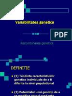 Variabilitatea genetica