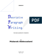Descriptive Paragraph Writing for Bac Students