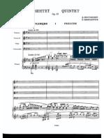 Shostakovich - Piano Quintet Op.57 (String Quartet + Piano) Score