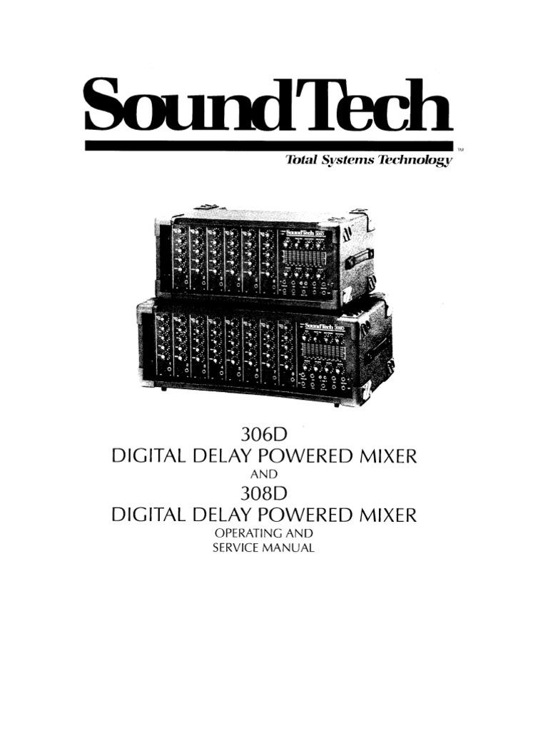 "306d 308d operation service manual rh es scribd com Amplifier Tech Sound Used Sound Tech 15"" Monitors"