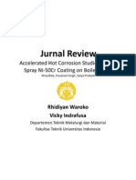 Jurnal Review - Accelerated Hot Corrosion Studies of Cold Spray Ni-50Cr Coating on Boiler Steels