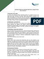DICAS MOTIVADORAS PARA ALCANÇAR METAS E OBJETIVOS