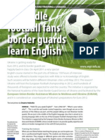 To Handle Football Fans Border Guards Learn English