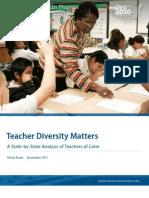 Teacher Diversity Matters