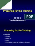 TM Session 11 (Preparing for the Training)