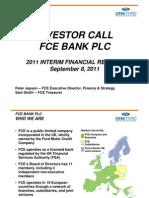 2011 Interim FCEPresentation