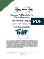 B2MML BatchML V0401 Code Generation