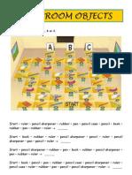 Classroom objects worksheet
