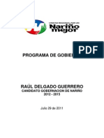 Nariño PROGRAMA DE GOBIERNO VERSION COMPLETA Agosto 2011