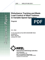 Disturbance Tracking and Blade Load Control of Wind Turbines in Variable-Speed Operation