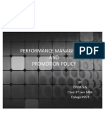 Performance Management and Promotion policy