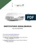 Institutuko Gidaliburua (2011-12)