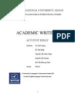 Account Essay _ Group 3 _ 09E23