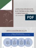CAPACITACIÓN BOLETA ELECTRÓNICA DEL PNIEB-COMPETENCIAS