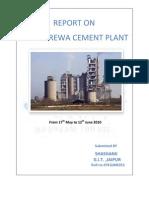 37233324 Report on JAypee Cement