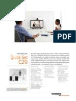 Videoconferencing Tandberg Quick Set c20 Data Sheet