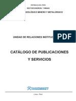 Catalogo Publicaciones Servicios INGEMMET