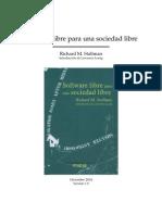 Libro Software Libre Para Una Sociedad Libre -- Richard Stallman