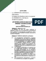 Ley No 29090LeydeRegularizacindehablitacionesurbanasyedificaciones