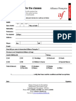 Application Form for French Classes