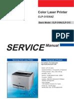 Samsung CLP-315 Service Manual