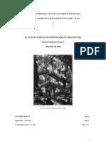 AS TÉCNICAS GRÁFICAS NA REPRESENTAÇÃO DA ARQUITECTURA Piranesi - Universidade Lusíada do Porto